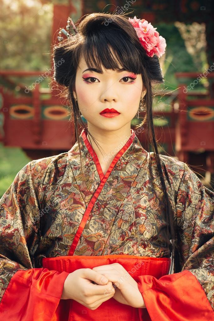 portaite da linda mulher asi tica no quimono fotografias de stock gilitukha 71638625. Black Bedroom Furniture Sets. Home Design Ideas