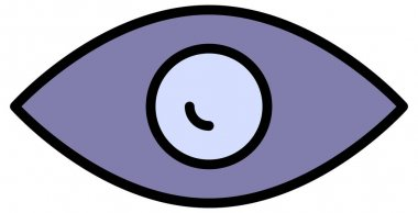 Illustration of a eye of a cartoon icon