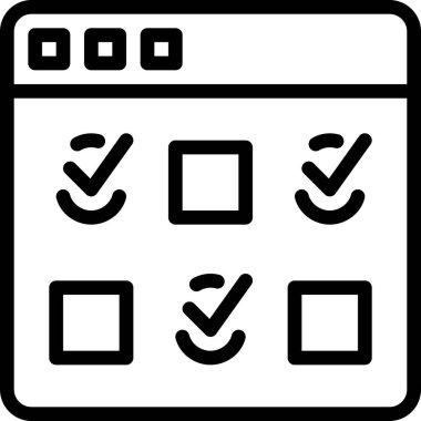 Vector illustration of seo line icon icon
