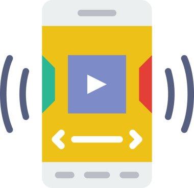Video icon, simple vector illustration icon