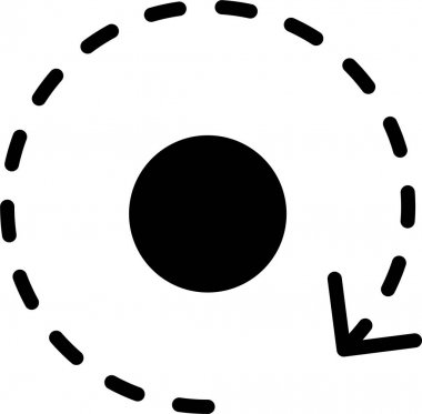 Vector illustration of Orbit around the planet icon