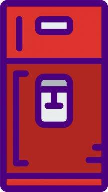 Vector illustration of modern b lack icon of storage icon