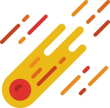 Falling star, vector icon icon