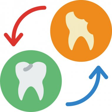 Dental care and health banner icon