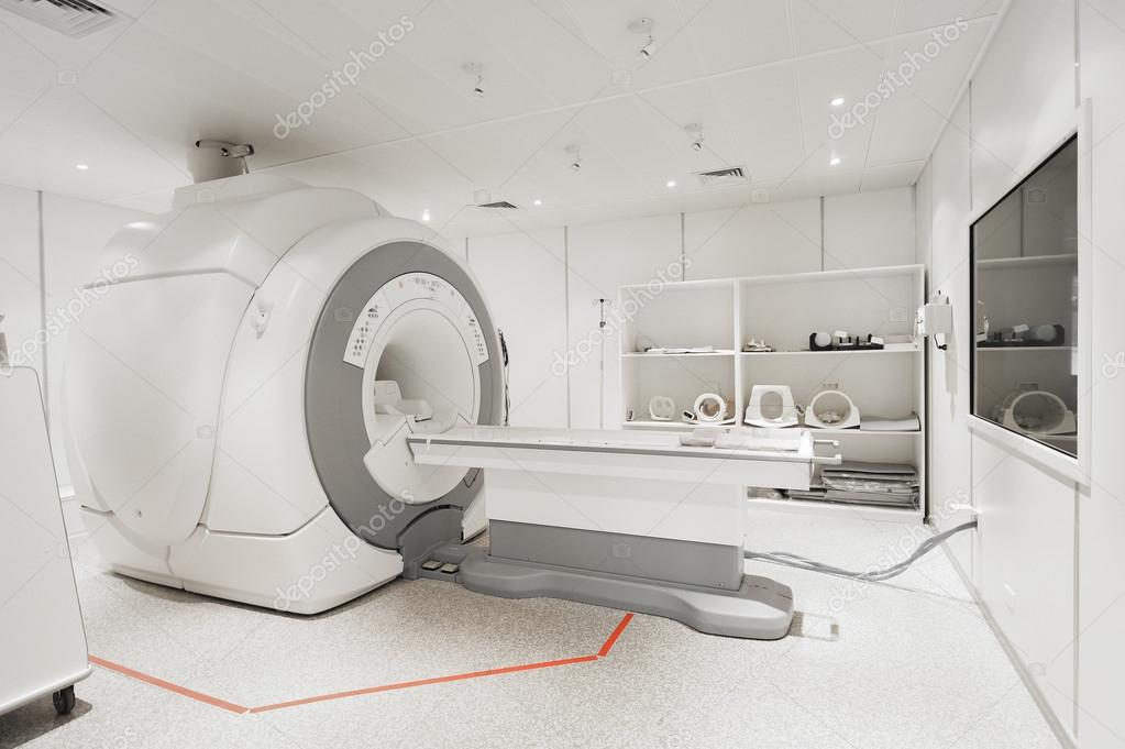MRI scanner room in hospital — Stock Photo © nimon_t #114199388