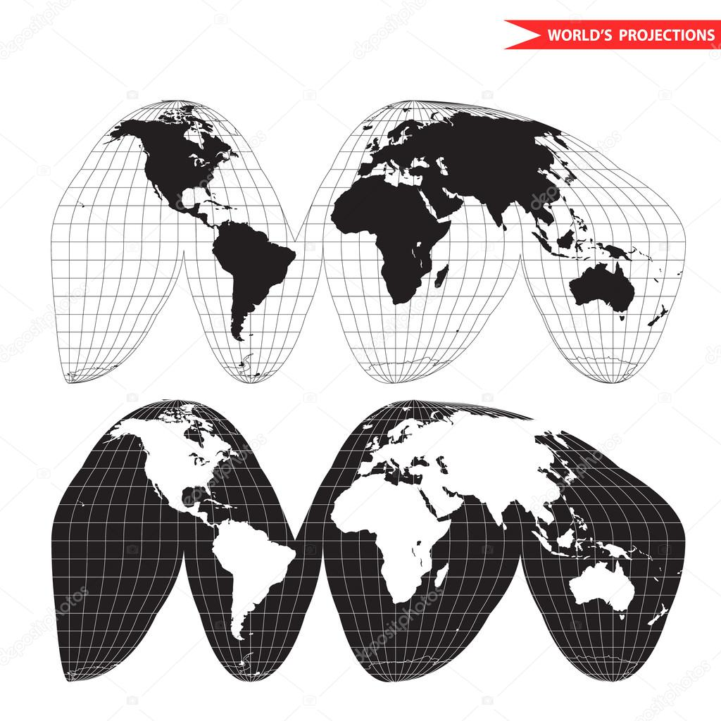 A colored vector map of the world with grid lines stock vector a colored vector map of the world with grid lines stock vector gumiabroncs Image collections