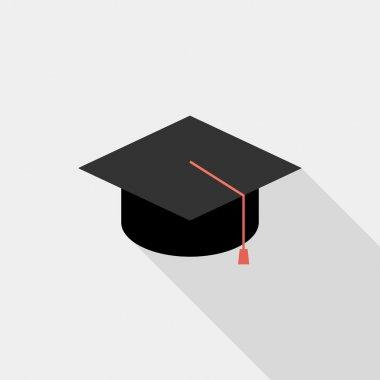 Square academic cap icon.