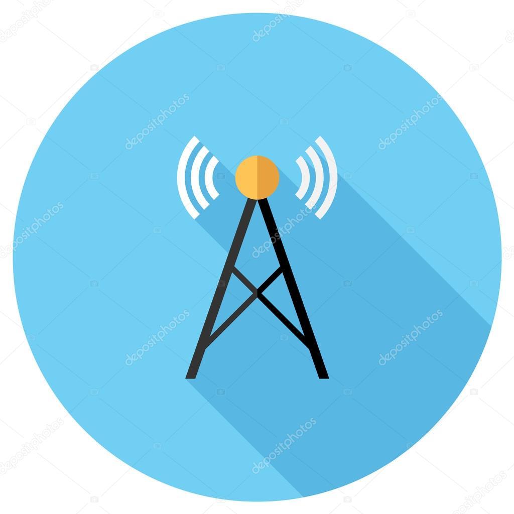 Radio Turm Symbol — Stockvektor © IconFlat #59948213
