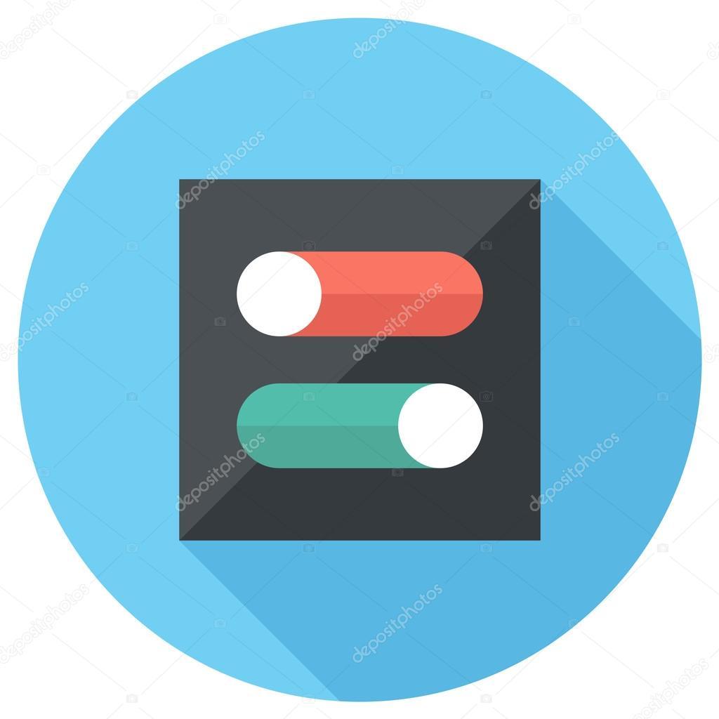 Schalter Symbol — Stockvektor © IconFlat #59949885