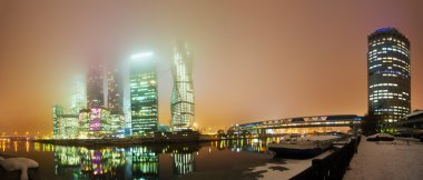 Night view of Moscow City