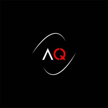 A Q letter logo creative design on black color background, aq monogram icon