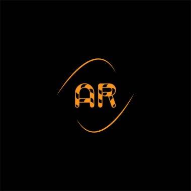 A R letter logo creative design on black color background, ar monogram icon