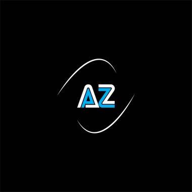 A Z letter logo creative design on black color background, az monogram icon