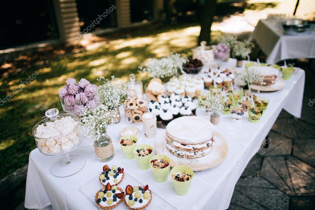 Delicious Wedding Reception Candy Bar Stock Photo Beorm 108322040