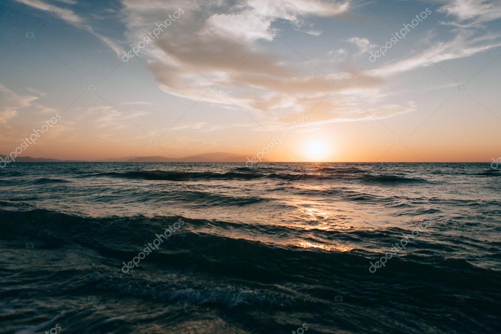 Kaite beach sunset in Kusadasi