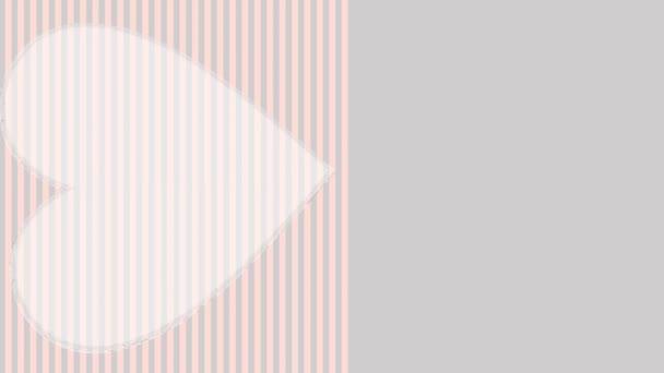 Brust Krebs Bewusstsein Film, Oktober, animierte Darstellung mit rotierenden, Herzen, rosa Schleife und Daumen hoch Geste