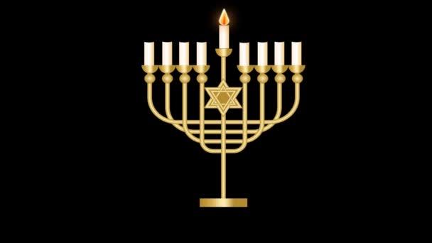Hanukkah Menorah avec 9/bougeoirs.