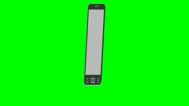 Smartphone reklama, klip s nápisem musí mít to palec nahoru ikonu. Video pro oznámení nového produktu. Online nakupování. Zelená matná zahrnuty