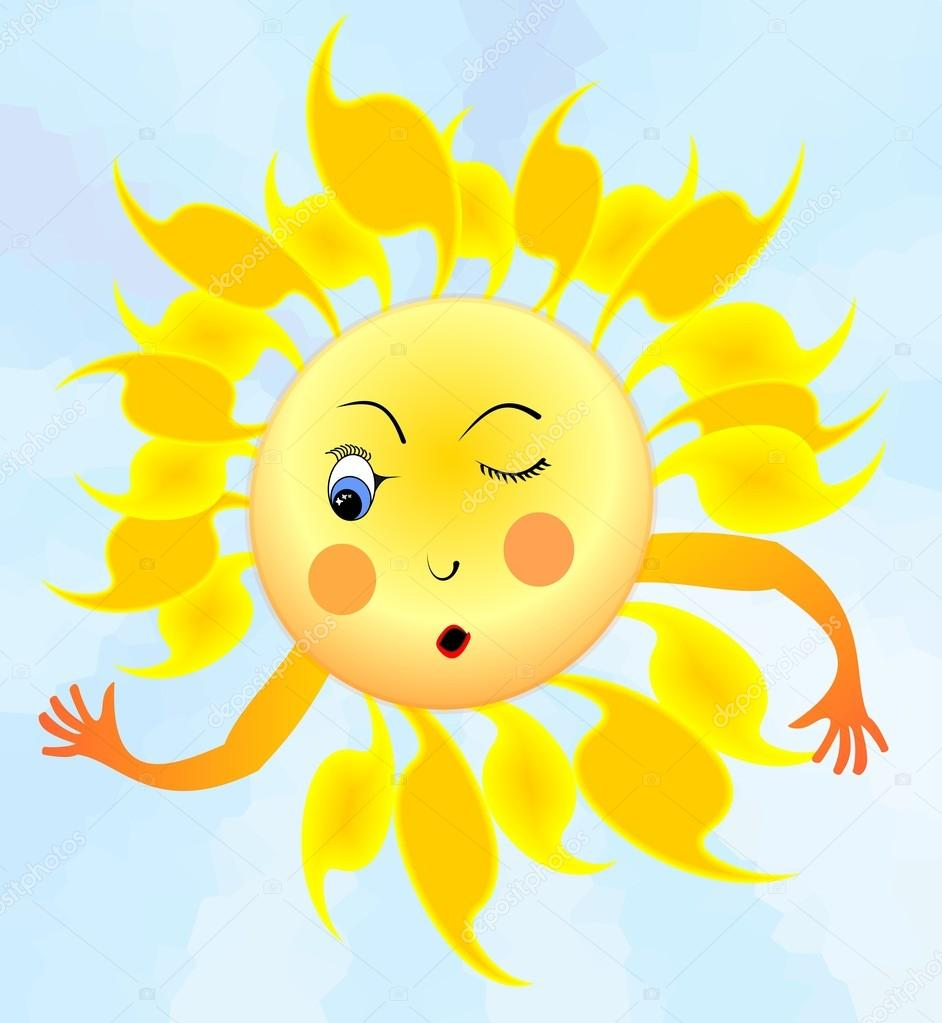 больше солнышко подмигивает в картинках то