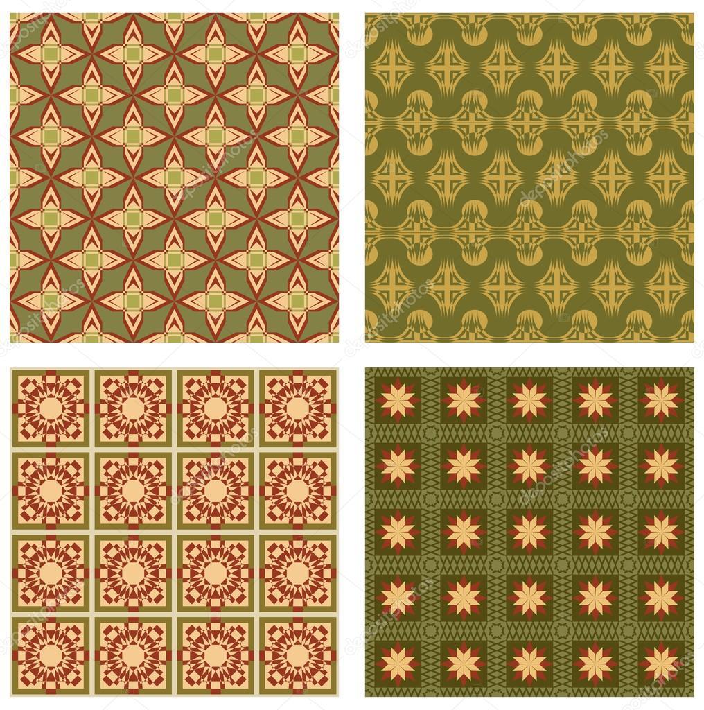 Set di sfondo piastrelle in stile art d co con semplici - Stock piastrelle 2 euro ...