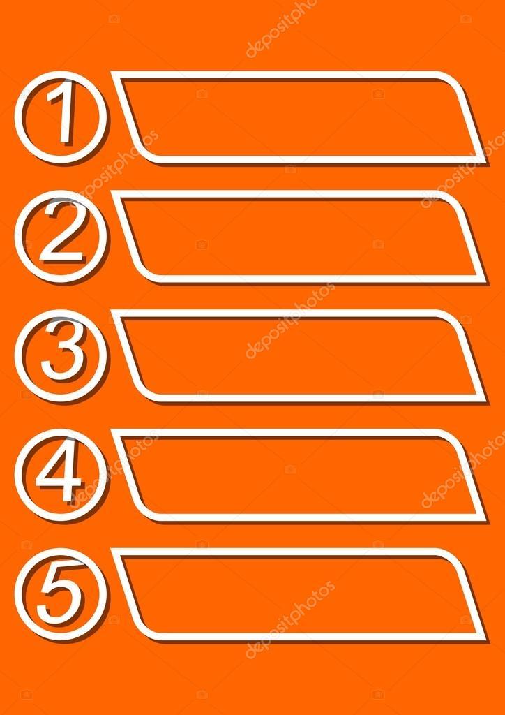 Plantilla de infografía para presentación de cinco opciones o pasos ...