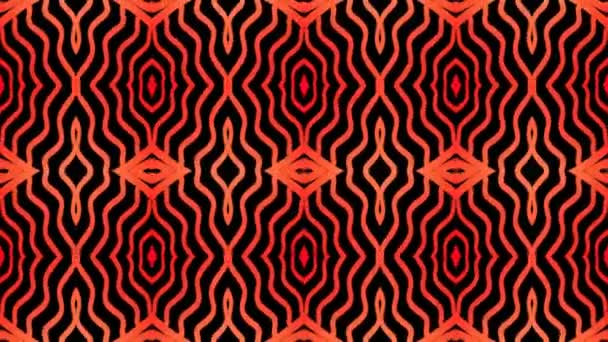 Fiery geometric line pattern on a black background