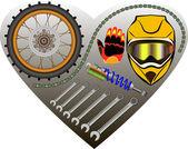 Fotografie Motorrad-Garage-Hintergrund
