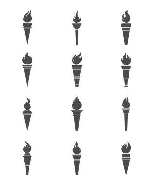 Black torchs  set