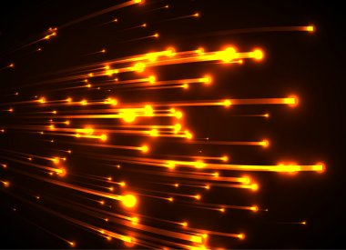 Abstract yellow glowing background