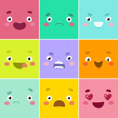 Cartoon emotional faces