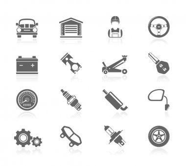 Black Icons - Car Maintenance