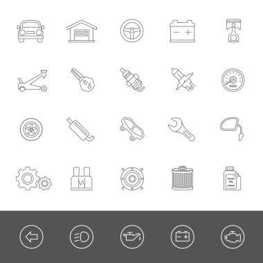 Line Icons: Car Parts