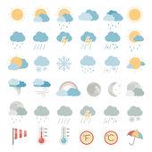 flache Symbole - Wetter