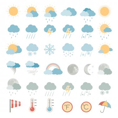 Weather icons stock vector