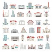 Fotografie Flat Icons - Buildings