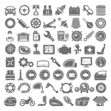 Black Icons - Car and Motorcycle Parts