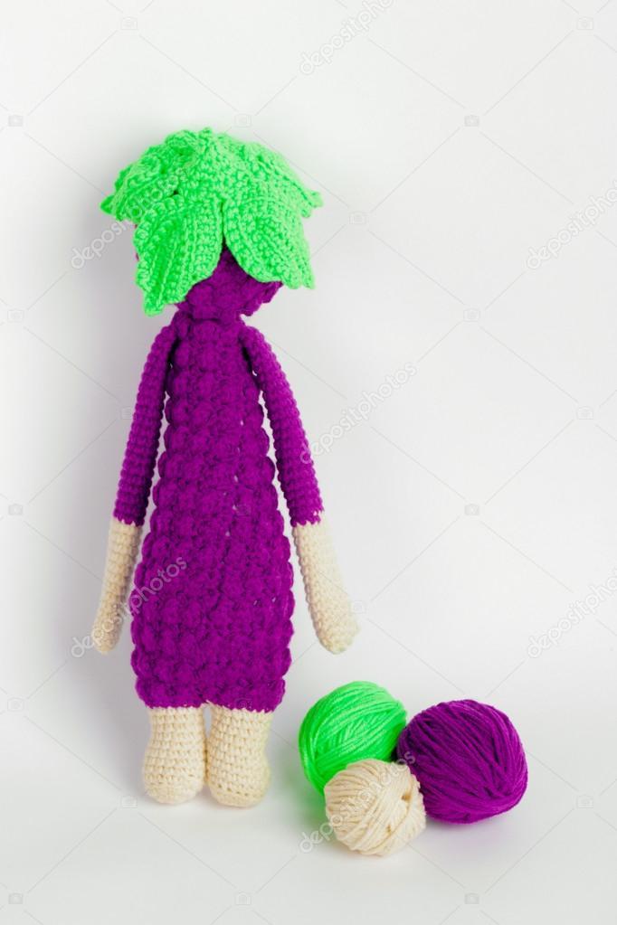 Peluches, crochet, moras, madejas de hilo de juguete — Foto de stock ...