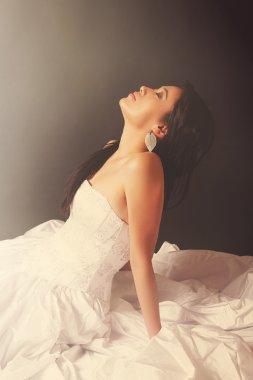 Beautiful bride girl