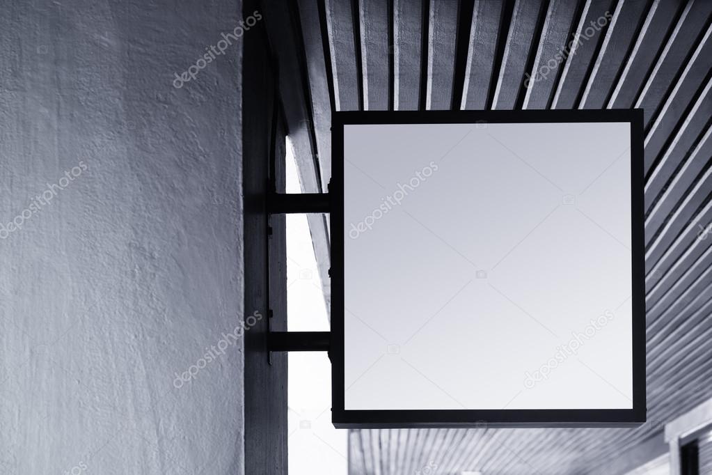 enseigne boutique mock up affichage forme carr e ext rieure photo 103210620. Black Bedroom Furniture Sets. Home Design Ideas