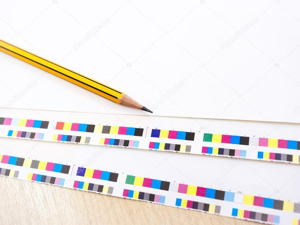 Digital Printing Press Offset Industry work process Pencil