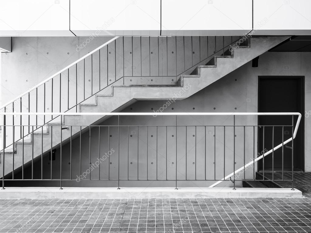 Cement trap met beton muur modern het platform details