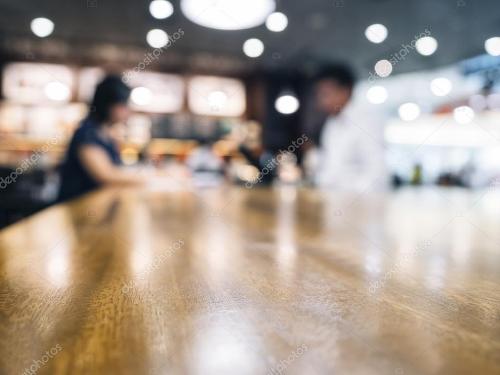 Restaurant Background With People Blurred People In Cafe Restaurant Background  Stock Photo