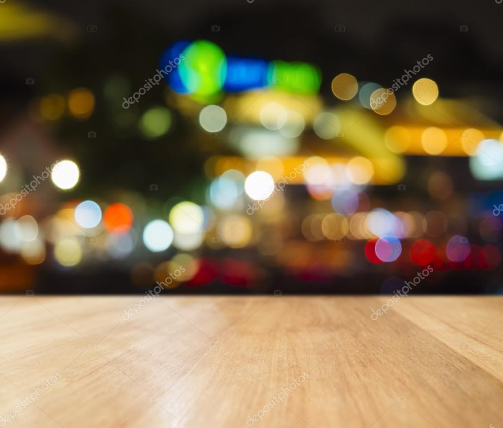 Theke Mit Beleuchtung   Table Top Bar Theke Mit Beleuchtung Hintergrund Unscharf