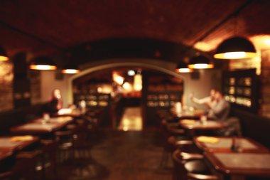 Restaurant blurred background