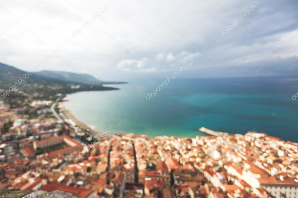 Blurred view of the Cefalu