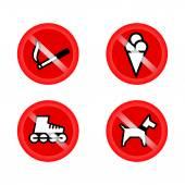 sada zákazu označení při vstupu do obchodu nebo obchod