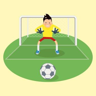 Cute goalkeeper- vector illustration