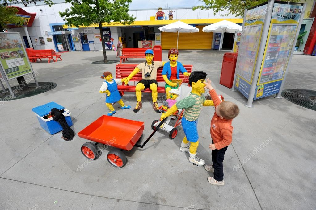 Gunzburg, GERMANY - MAY 6: Legoland - mini Europe from LEGO bric