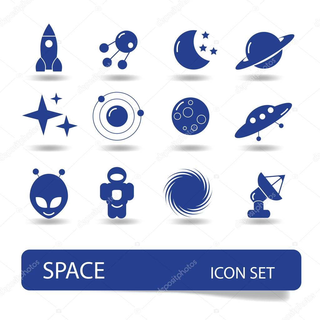 Space vector icon