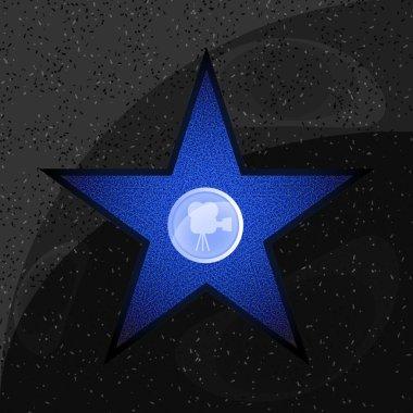Walk of fame star on the granite floor